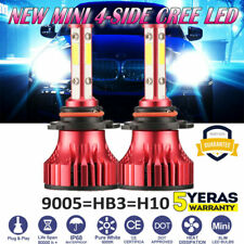 4-sides 9005 HB3 H10 9145 LED Headlight Conversion Kit 2200W 6000K 330000LM Bulb