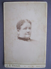 Vintage Cabinet Card Photo of Lady E. P. Fitz Gerald by J.A. French Keene, N.H.