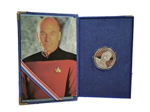 Star Trek: The Next Generation Captain Picard 1 oz Proof Silver Coin 1992