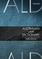 Australian Law Dictionary, Paperback by Mann, Trischa (EDT), Brand New, Free ...