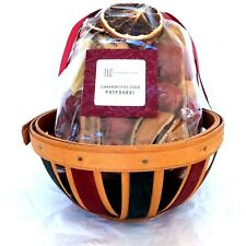 Holiday Red Green Basket Bag Cinnamon Spice Cider Potpourri Longaberger