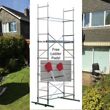 Superb 5m or 7m DIY Aluminium Alloy Scaffold Tower with Free Ladder Pads!