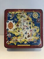 Vintage Metal Tin Carr & Co Carlisle England Biscuit Cookie Tin Made in England