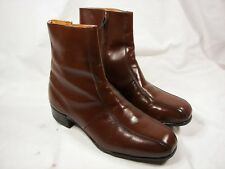 New Old Stock Iron Age Bostonian Steel Toe Safety Boots Brown 10M ANSI Z41 USA