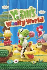 YOSHI'S WOOLLY WORLD SINGLE 24X36 POSTER NINTENDO WII U BRAND NEW MARIO BROS!!!!