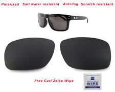 Polarized Replacement Lenses For-Oakley Holbrook 9102 Sunglasses Carbon Black