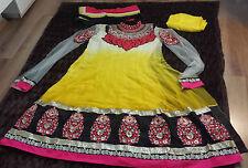Salwar kameez de diseñador indio asiático Paquistaní Anarkali vestido traje bordado
