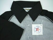 Vintage King Louie Bowling Polo Shirt Nos Nwt Black/Gray Made In Usa 36 womens