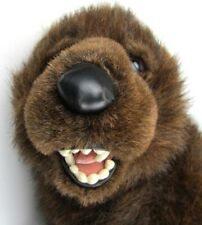 """Grizzly Bear Plush Stuffed Animal Discovery Channel Realistic 20"""" 1999"""
