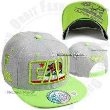 California CALI Republic Baseball Cap Bear Snap back Hat Flat Bill Colors Hats