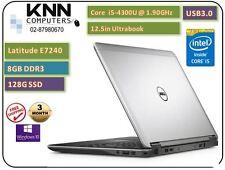 "Dell Latitude E7240 Intel i5-4200u 1.9Ghz 8Gb Ram 128Gb SSD 12.5"" USB Win 10 Pro"