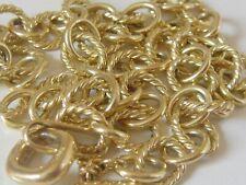$6350 DAVID YURMAN 18K GOLD MINI OVAL LINK NECKLACE