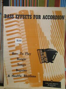 BASS EFFECTS FOR ACCORDION-  ACCORDION MUSIC BOOK NOS