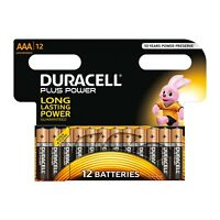 12 X Duracell AAA Plus Power Alkaline Batteries - LR03 MN2400  UK Seller