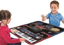 Vinsani Pavimento Tappetino Bambini Kids 2 Lettore Musicale Drum Set & TASTIERA COMBO