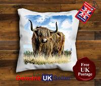 Highland Cow Cushion Cover, Highland Cattle Cushion, Highland Cow Handmade,