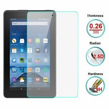 Premium Clear Tempered Glass Film Screen Protector for Amazon Kindle Fire 7 2015