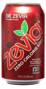Zevia Zero Calorie Soda, Dr. Zevia, Naturally Sweetened Soda, (24) 12 Ounce