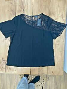 Womens Simply Be Black Blouse UK Size 18