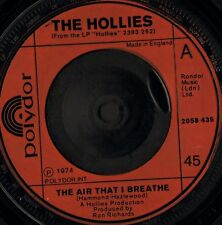 "THE HOLLIES the air that i breathe/no more riders 2058 435 uk 1974 7"" VG/"