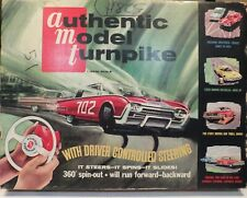 Vintage Amt Authentic Model Turnpike Tr-190 Set With 1962 Ford Thunderbird