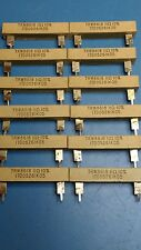 11R high wattage wire wound ceramic resistors, used (6 Pieces).