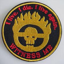 Mad Max - Witness me - Fury Road - Logo Patch Aufnäher - zum Aufbügeln - neu