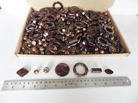 JOB LOT: One kilo (1 kg)  of Chocolate/Gold Acrylic Beads - many shapes/sizes