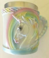 "Ebros  Rainbow Unicorn Mug 7oz Capacity 3.5"" Tall for collection"