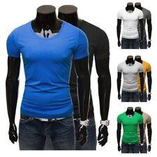Unifarbene Herren-T-Shirts Basic aus Baumwolle