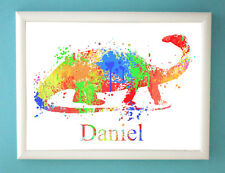 Personalised Art Print Dinosaur Baby Boy Girl Bedroom wall Picture Gift Christma
