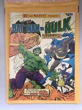 1981 DC and Marvel Presents Batman vs. The Incredible Hulk Treasury Size Edition