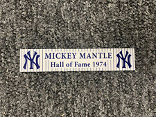 Mickey Mantle Name Plate 1x5 Yankees
