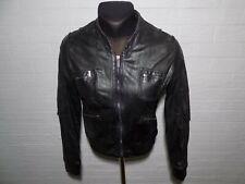 Ladies KAREN MILLEN Leather Bomber Style Jacket Size UK 12 US 8 EU 40