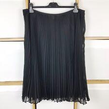 Laura Ashley Black Chiffon Accordion Pleated Skirt Size 16