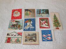 Lot -10 Mid Century Vintage Quaint Shop & Other Original Unused Christmas Cards