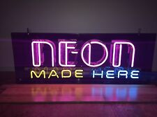 (L@@K) Neon Made Here Custom Store Shop Advertising Light Up Sign
