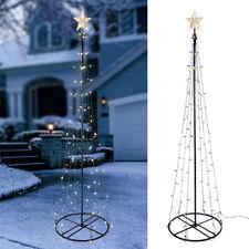 aus metall beleuchteter weihnachtsb ume in schwarz ebay. Black Bedroom Furniture Sets. Home Design Ideas