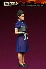 1/35 Escala Kit de modelo de resina Segunda Guerra Mundial 1939-45 civiles europeas Mujer Joven