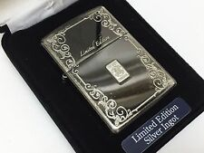 """Very Rare! ZIPPO Limited Edition Etched Design """"Sterling Silver Ingot"""" Lighter"""