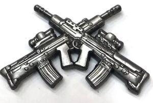 Marksman SA 80 Crossed Rifles Lapel Pin Badge