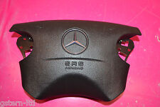 MERCEDES W208 CLK C230 CDI COUPE BLACK LEATHER STEERING WHEEL AIRBAG 2104600398