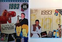 1993 24th Birthday Gifts Set - 1993 DVD , Pop CD and Card - CD Card Company.