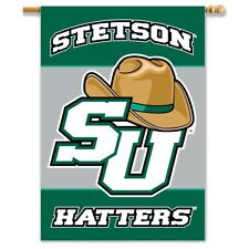 Stetson Hatters 088 28x40 2-SIDED Outdoor Banner Flag w/pole sleeve University