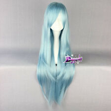 Sword Art Online Asuna Yuuki  Light Blue 32'' Long Straight Anime Cosplay Wig