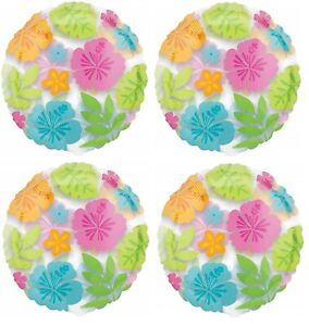 """4x 18"""" Hawaii Flower Party Foil Mylar Balloon Party Supplies"""