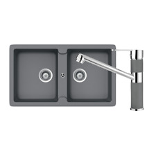 SCHOCK TYPOS DOUBLE BOWL & 400456CR CROMA KITCHEN MIXER Sink & Tapware Packages