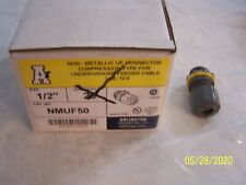 "Box of 17 Arlington NMUF50-1, 1/2""Non-Metallic UF Connector Compression Type"