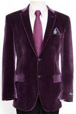 Men's 2 Button Solid Velvet Velour Sport Coat Blazer Suit Formal Tuxedo Jacket