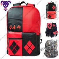 Harley Quinn Backpack Suicide Squad Schoolbag Laptop Bags Knapsack Shoulder Bag